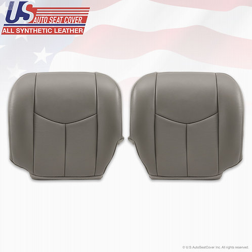 2003 to 2006 Cadillac Escalade Driver & Passenger Bottom Perforated Pewter Gray