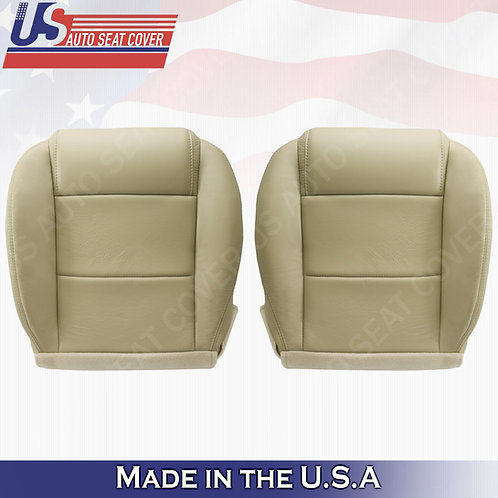 2005-2009 Ford Mustang Coupe V6 Driver -Passenger bottom leather seat cover Tan