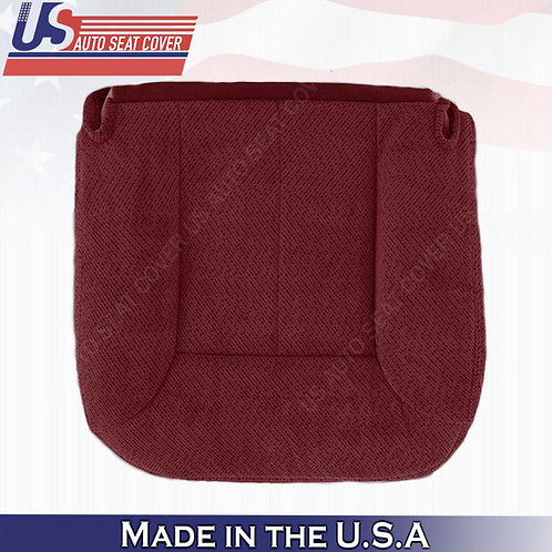 1995 1996 1997 1998 1999 GMC Yukon Front Driver Bottom Cloth Seat Cover Ruby Red