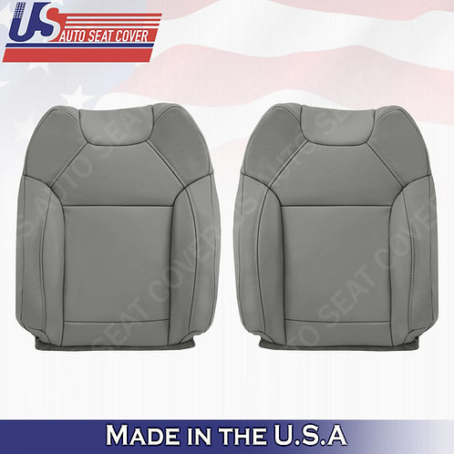For 2014 to 2020 Acura MDX Driver & Passenger Top  Leather Seat Cover Gray