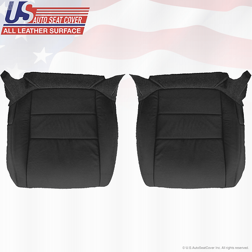 2004 - 2008 Acura TL Driver & Passenger Bottom Leather Seat CoveR BLACK