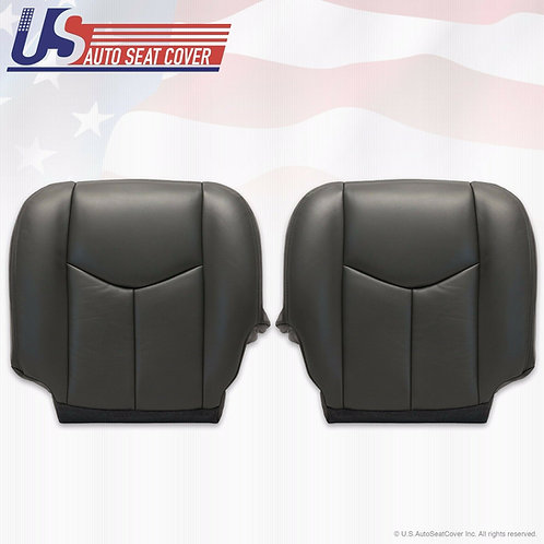 2003 To 2006 Chevy Silverado GMC Sierra 1500 Front Bottoms Leather Cover DK Gray