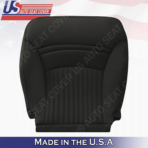 1997-2004 Chevorlet Corvette Driver Perforated Bottom Leather Seat Cover Black