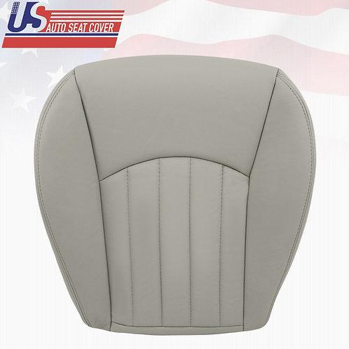 2002-2008 Jaguar X-Type Passenger Bottom Leather Seat Cover Gray