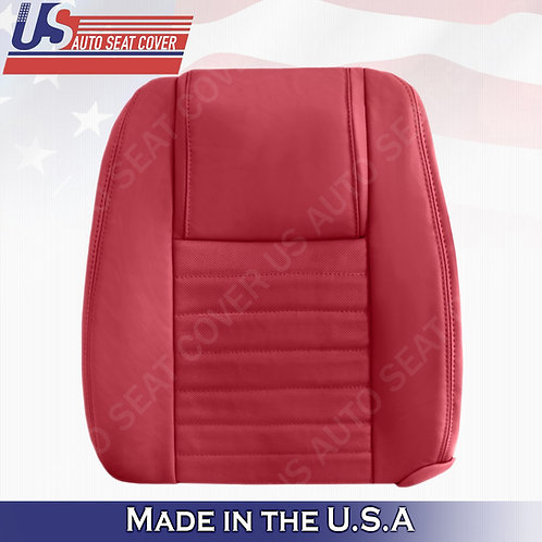 2005-2009 Ford Mustang Driver Top Leather Seat Cover in Red (PERFORATED)