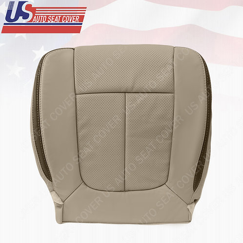 2009-2014 Ford F150 Platinum Passenger Bottom Leather Perforated Cover StoneGray