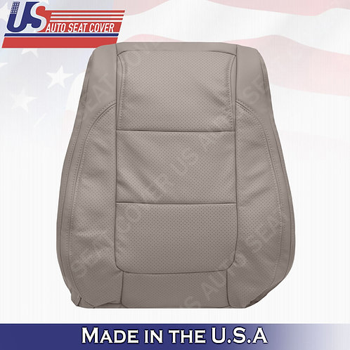 2011 - 2015 Ford Explorer Driver Top leather Perf. Seat Cover Stone