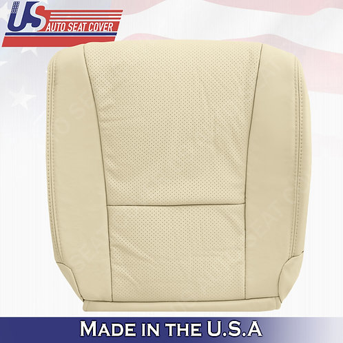 Fits 2007-2012 Lexus LS460 PASSENGER Bottom Perforated Leather Seat Cover Tan
