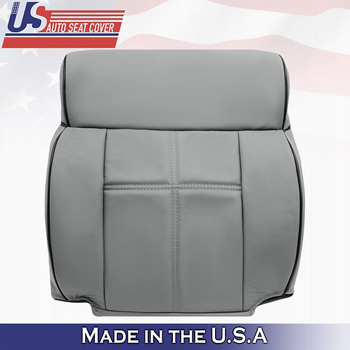 "2006-2008 Lincoln Mark LT Gray Leather Lean Back Cover for Front ""Driver"""