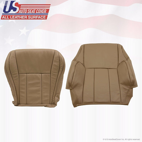 For 1996-2002 Toyota 4runner Leather Driver Top/Bottom Seat Covers in Tan