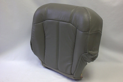 1999-2002 Chevy Truck Passenger Botom Replacement Leather Seat Cover Pewter gray