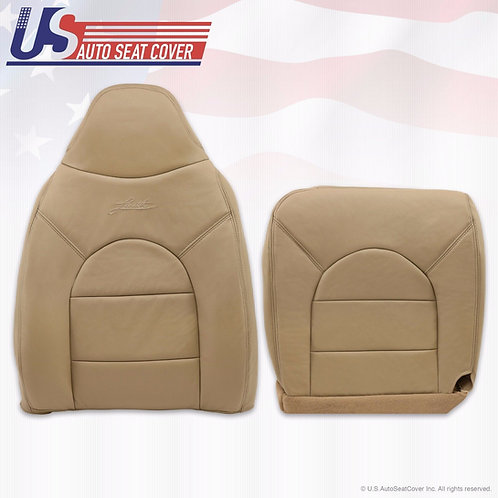 1999-2000 Ford F250* Lariat Driver Side Top & Bottom Leather seat Covers Tan