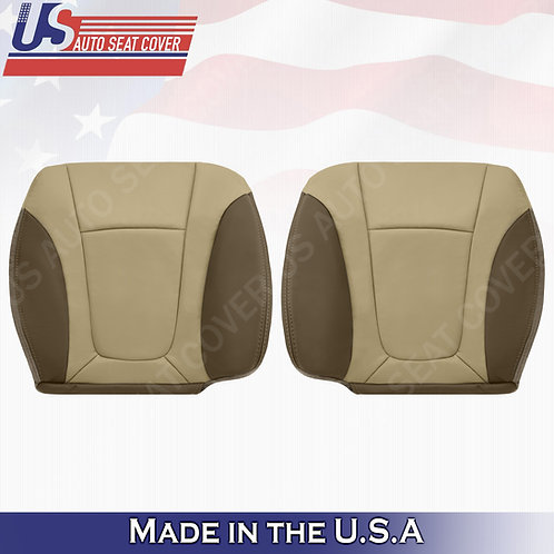 2002-2004 Chevy Trailblazer Driver & Passenger Bottom Leather Cover 2-TONE Tan