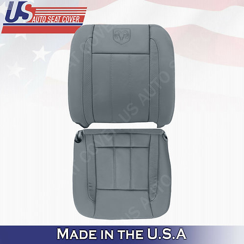 DRIVER- Bottom & Top Leather Seat Cover 2006 2007 2008 2009 Dodge Ram Laramie