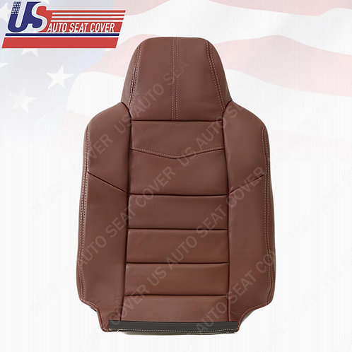 2008 Ford F250 King Ranch Driver Top Leather Seat Cover RED
