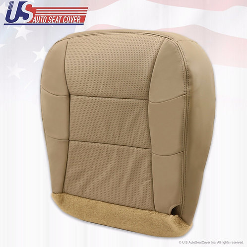 2000-2002 Lincoln Navigator Passenger Bottom Perforated Leather Seat Cover Tan