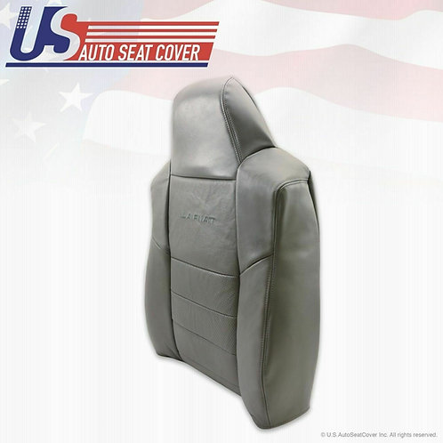 2002-2007 Ford F250 F350 Passenger Top Replacement Leather Seat Cover Gray