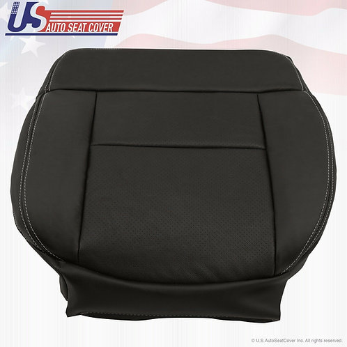 04-08 Ford F150 XLT Lariat SPORT FX4 FX2 -Driver Bottom Leather Seat Cover BLACK