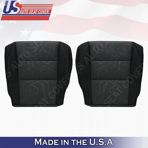 For 2016-2020 Toyota Tacoma SR5 Passenger Driver  Bottom Cloth Seat Cover Black