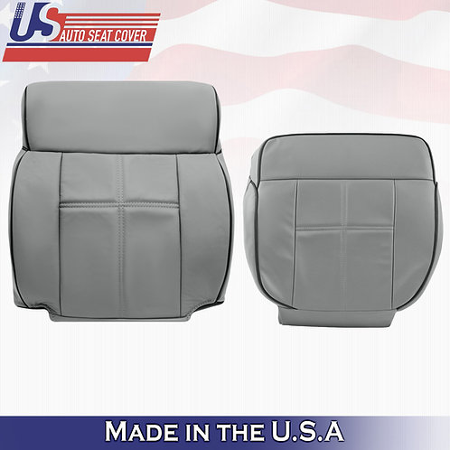 2006-2008 Lincoln Mark LT- Driver  Top and Bottom Leather Cover GRAY