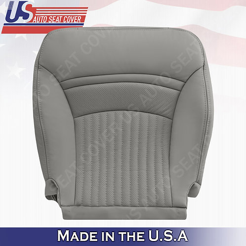1997-2004 Chevorlet Corvette Passenger Bottom Perforated Leather Seat Cover Gray