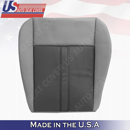 2005- 2007 Jeep Grand Cherokee Passenger Bottom Leather cover 2-tone GRAY