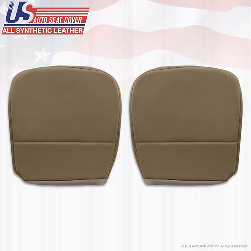 2008-2010 Ford F250 F350 F450 F550 XL Bottoms Vinyl Seat Cover Tan
