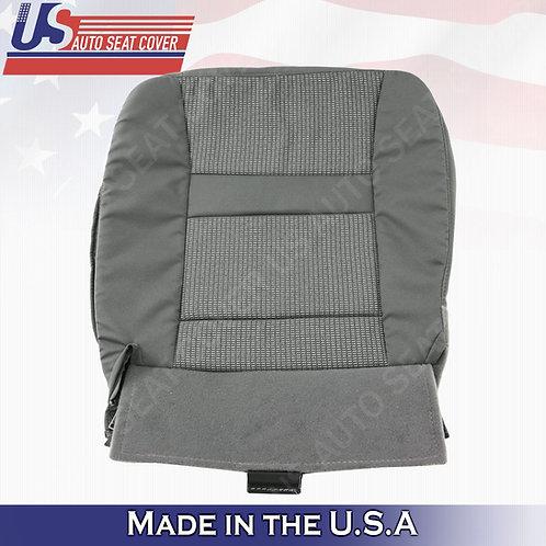 2006-2010 Dodge Ram Passenger Bottom Cloth seat cover in Gray