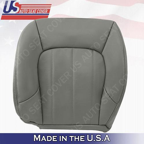 2002-2009 GMC Envoy SLT XL Driver Bottom Leather Seat Cover Gray