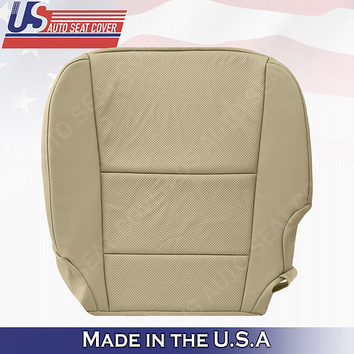 Driver bottom perforated tan leather seat cover for 2013-2018 Acura RDX