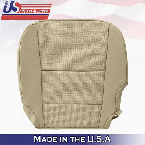 Driver Bottom Perforated Tan Leather Seat Cover For 2013