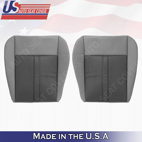 2005- 2007 Jeep Grand Cherokee Driver Passenger Bottom Leather cover 2tone Gray