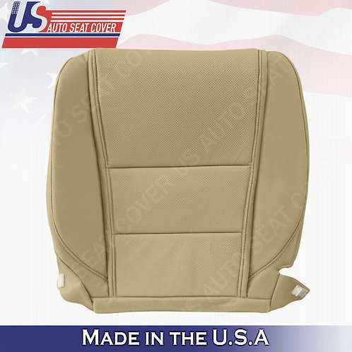 For 2009-2014 Acura TL Base Driver Bottom Perforated Leather Seat Cover Tan