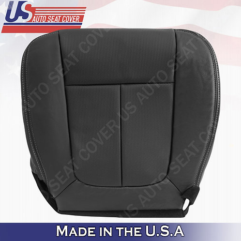 2009-2014 Ford F150 Passenger Bottom TEXTURE Leather seat Cover Black