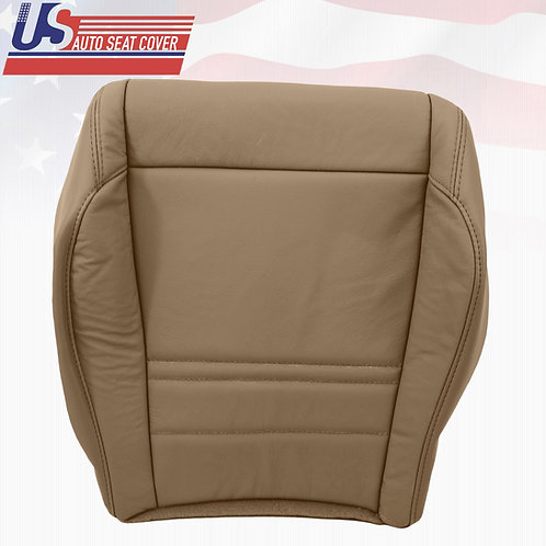 1998-2001 FORD EXPLORER XLT LEATHER DRIVER BOTTOM REPLACEMENT SEAT COVER (TAN)