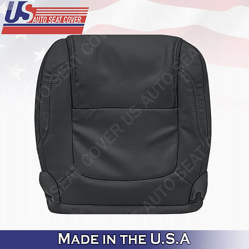 2011 - 2015 Ford Explorer Passenger Bottom leather Perf. Seat Cover BLACK