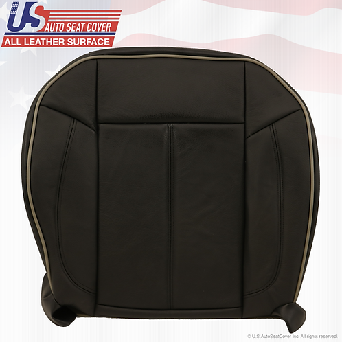 2006-2010 Hummer H3 Passenger Bottom Replacement Leather Seat Cover Black