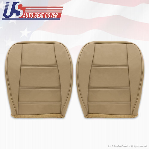 1999-2004 Ford Mustang V6 Driver Passenger Side Bottom Leather Seat Cover Tan