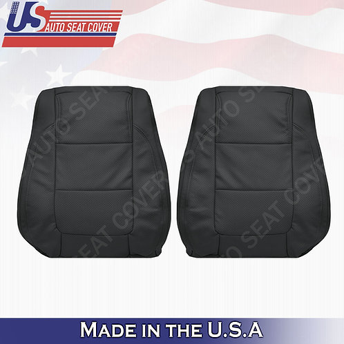 2011 - 2015 Ford Explorer Front Tops leather Perf. Seat Cover BLACK