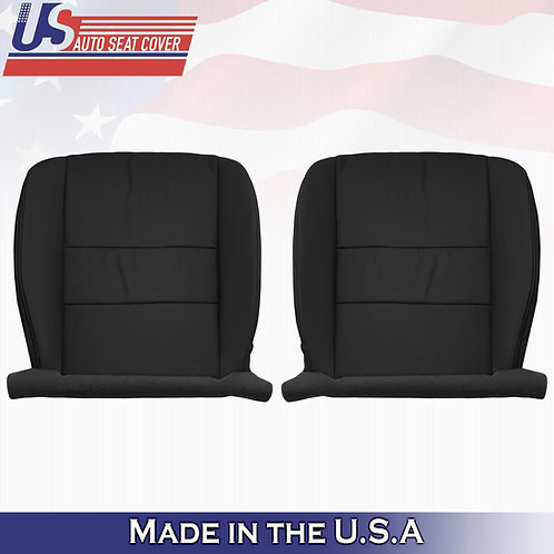 Fits 2009-2014 Acura TSX Driver & Passenger Bottom Perforated Leather Cover Blck