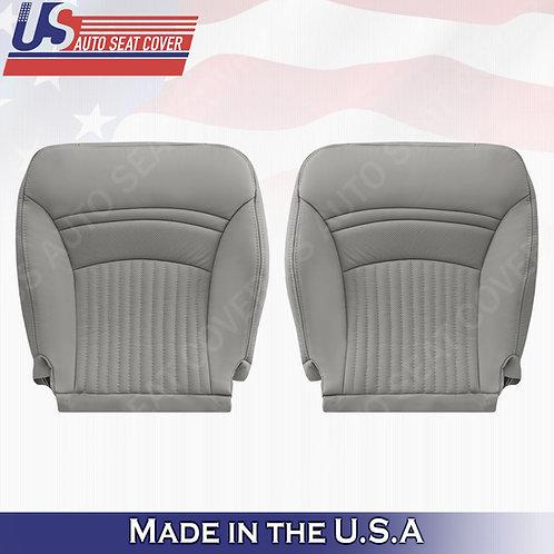 1997-2004 Chevorlet Corvette Driver Passenger Bottom Leather Seat Cover Gray