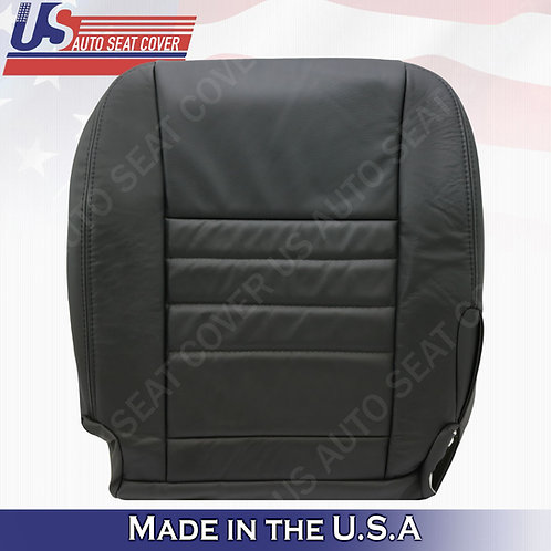 2011 - 2018 Dodge Charger Driver Bottom Leather Seat Cover black