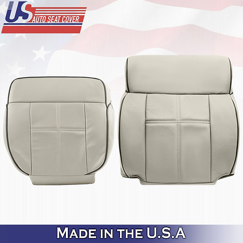 2006-2008 Lincoln Mark LT Top & Bottom Leather Seat Cover Light Tan