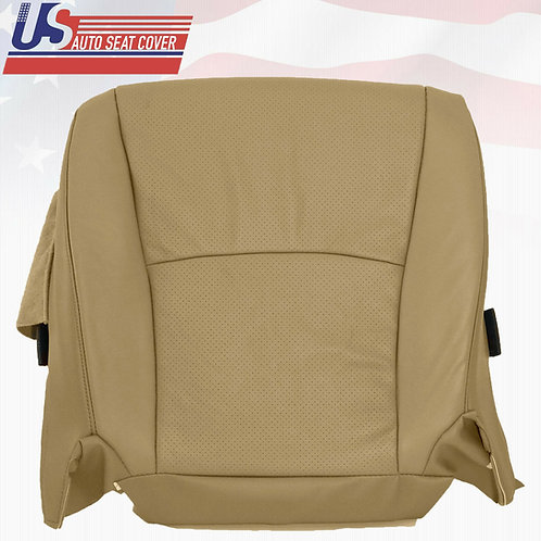 For 2003-2007 Toyota Highlander Driver Bottom Leather Perforated Seat Cover Tan