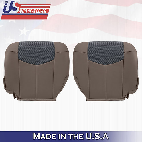 2002 Chevy Avalanche 1500 2500 Driver & Passenger Bottom Leather w/Cloth TAN