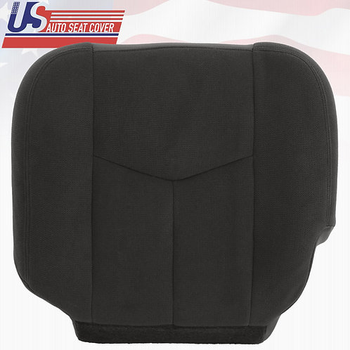 2003 2004 GMC Sierra 3500 Driver Bottom Replacement Cloth Seat Cover DARK GRAY
