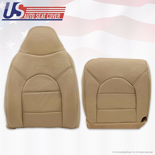 1999 Ford F250 350 Lariat Upper Top & Bottom Leather seat Covers Tan