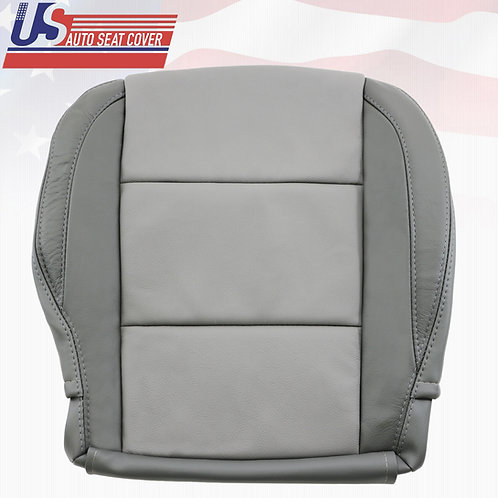 For Nissan Armada Passenger Bottom Leather seat cover In 2-TONE GRAY