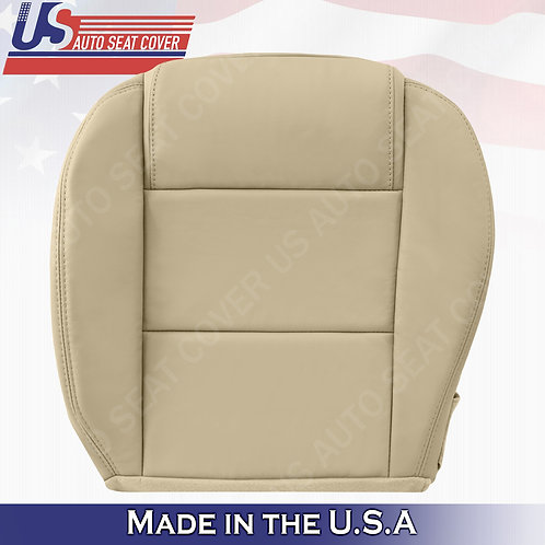 2005-2009 Ford Mustang V6 Driver Bottom Leather Seat Cover in Tan