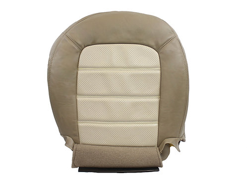 2002 to 2005 Ford Explorer Driver Bottom Perforated Leather Seat Cover Tan